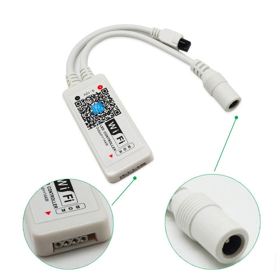 LED Strip Light Smart Christmas Light SMD5050 Flexible Ribbon led strip Alexa RGB Tape Diode DC 12V Remote Wifi Control Adapter (61)