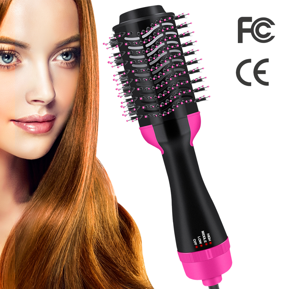 Electric Hair Brush Dryer Curling One-Step Hair Volumizer Dryer Straightener Styling Heating Comb Blow Dryer Brush Dropshipping
