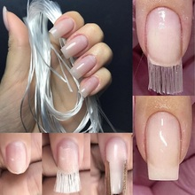 Professional 1/2/5M/Roll 1m/1.5m/2m Nail Art Fiberglass for UV Gel DIY Nails White Acrylic Nail Extension Tips With Scraper цены