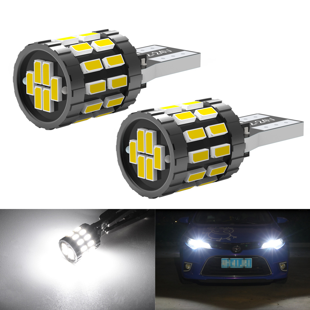 2pcs LED W5W T10 194 168 W5W SMD 30SMD Led Parking Bulb Auto Wedge Clearance Lamp CANBUS Bright White License Light Bulbs