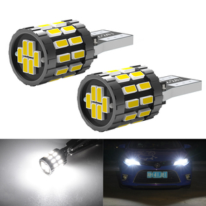 2pcs LED W5W T10 194 168 W5W SMD 30SMD Led Parking Bulb Auto Wedge Clearance Lamp CANBUS Bright White License Light Bulbs(China)