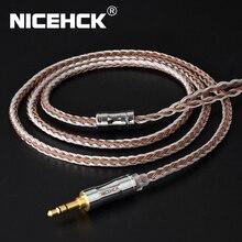 Nicehck C16 5 16 núcleo cobre prata misturado cabo 3.5/2.5/4.4mm plug mmcx/2pin/qdc/nx7 pino para zsx c12 v90 tfz nx7 pro/db3/BL 03