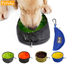 Petshy Portable Foldable Pet Dog Cat Bowl Travel Feeding Feeder Puppy Outdoor Food Water Dish Container Dogs Drinking Dispenser