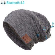 Czapka bluetooth 5.0 dla mężczyzn kobiety inteligentny kapelusz z bezprzewodowym sportowy zestaw słuchawkowy dzianiny głośnik Cap jako wyjątkowe prezenty, wbudowany mikrofon