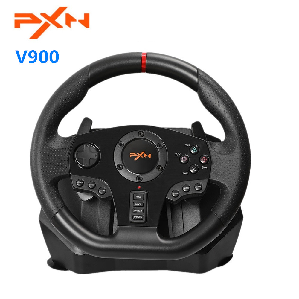 PXN V900 Gamepad Controller Steering Wheel PC Mobile Racing Video Game Vibration for PS3 PS4 Switch Xbox One PC image