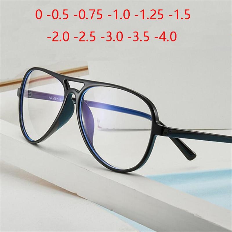 Big Frame Oval Minus Lens Optical Glasses Women Men TR90 1.56 Aspherical Prescription Eyeglasses SPH 0 -0.5 -0.75 -1.0 TO -4.0