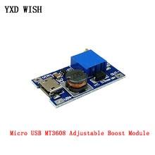 5PCS MT3608 DC-DC Einstellbar Boost Modul 28V 2A Boost Platte Step Up Converter Board Mit MICRO USB Power versorgung Für Arduino