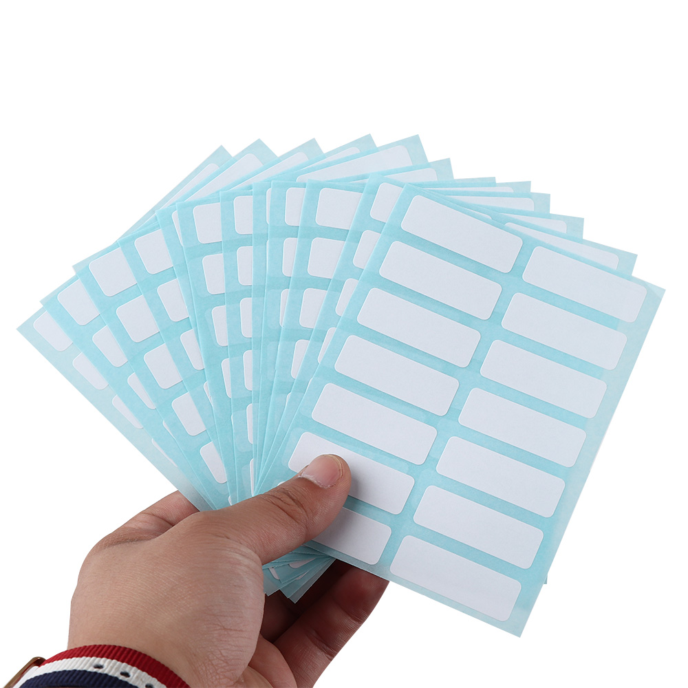 Blank Note Labels  13 X 38mm White Price Sticker Self Adhesive Labels Blank Name Number Tags 12Sheets