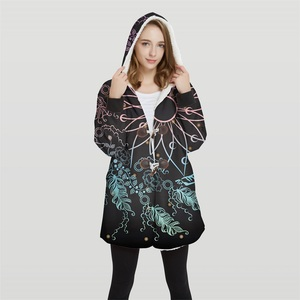 Image 5 - 2019 Bomber Womans Plus Size 3d Print Convertible Hoodie Jackets 100% Polyester Tops Soft Jacket Woman Customer Design Wy21