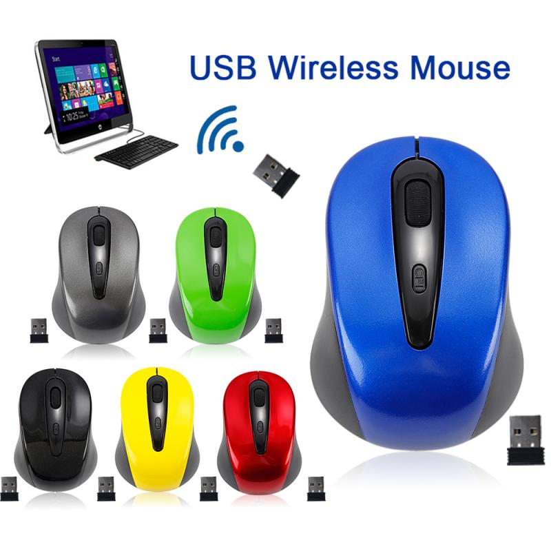 Universal 2.4GHz Wireless Mouse 1600DPI Optical Computer Cordless Office Mice With USB Receiver For PC Laptop