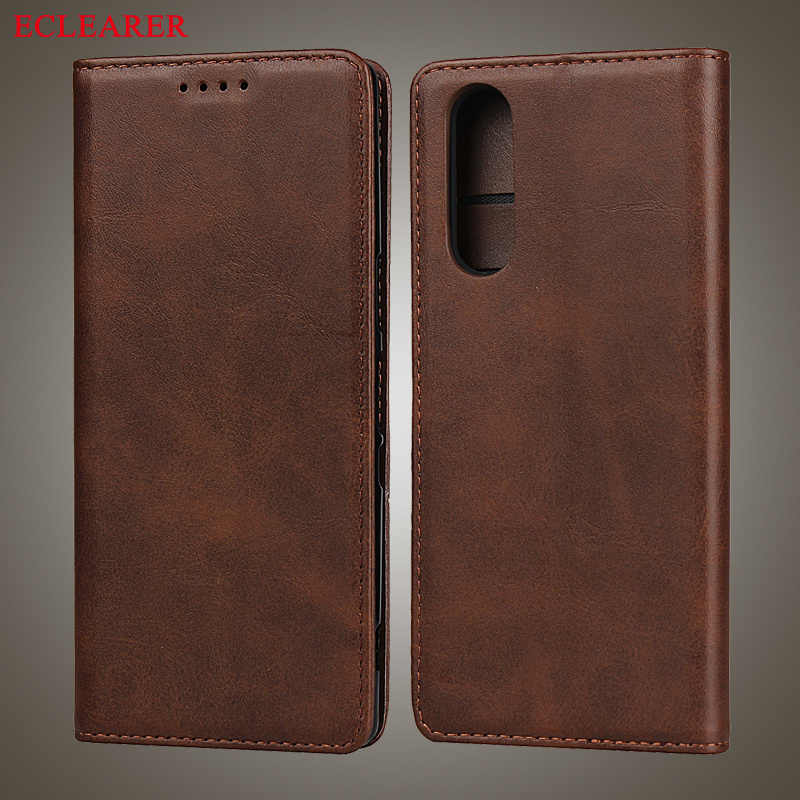 Luxury Leather Strong Magnetic Auto Flip Case For Sony Xperia 5 Vintage Stand Wallet Cover For Sony Xperia 5 Phone Cases Xperia5