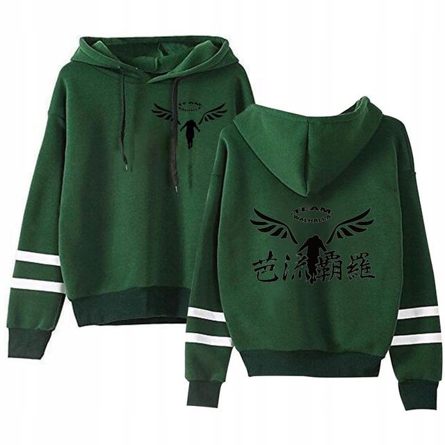 VALHALLA TOKYO REVENGERS THEMED STRIPED HOODIE