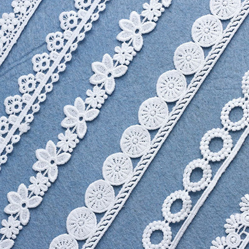 7 Yards Fashion Lace Knitting Pattern Exquisite Handmade DIY Accessories Sewing Decoration White Nigerian Fabric