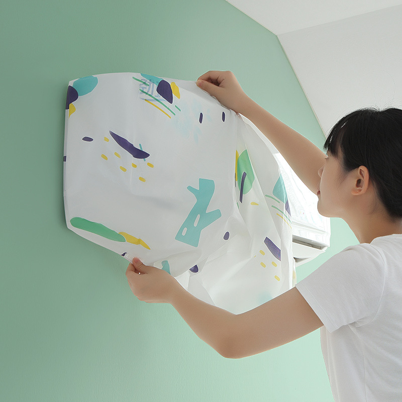 Hanger Air Conditioner Dust Cover Household Cartoon Simple Bedroom All-inclusive Wall-mounted Protective Cover