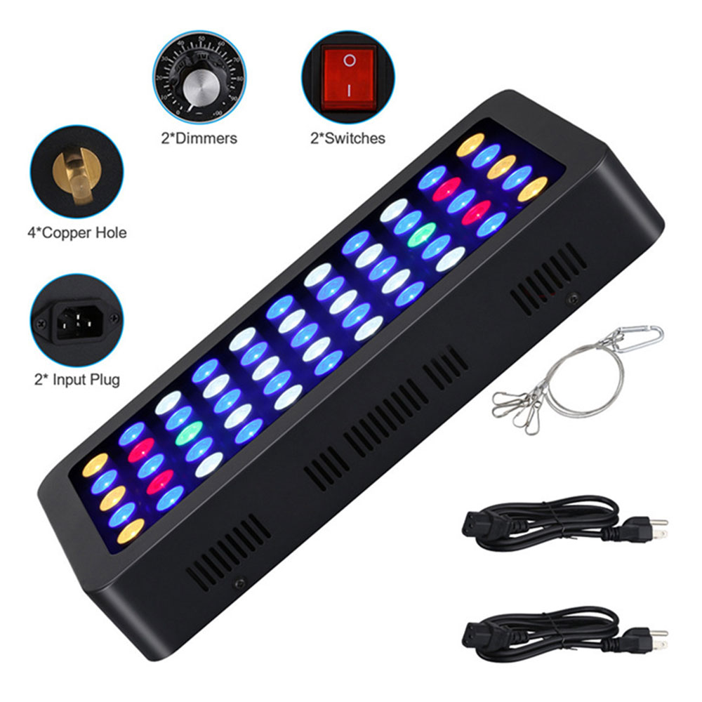 Светодиодный светильник с регулируемой яркостью для аквариума, полный спектр, морской 165 Вт, коралловый свет для аквариума, SPS LPS EU/US/UK - 6