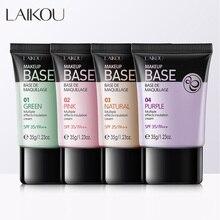 Laikou 4 Colors Face Makeup Base Concealer  Liquid Foundation Whitening Primer Oil Control Soft BB Cream Waterproof Lasting