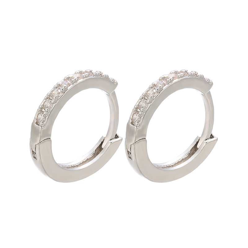 ZHUKOU 13x14mm one pair crystal hoop earrings for women jewelry DIY small earrings hooks jewelry accessories making model:VE82