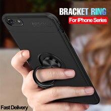 Magnet Armor Case for iPhone 8 7 6 6s Plus Phone Case Protective Anti-Shock Ring Cover For iPhone 6S 6 S 8 7 Plus Original Case iphone 7 plus case anti slippery устойчивый к царапинам противоударный легкий бампер для iphone 7 plus