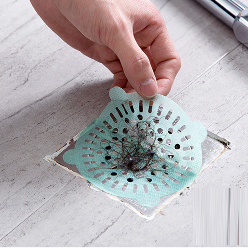 Anti-blocking Floor Drain Mat Silicone Sewer Outfall Strainer Sink Filter Hair Stopper Catcher Bathroom Kitchen Accessories