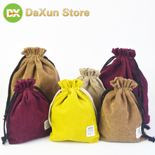 Storage and Finishing Bag Large Capacity Double Thickening Drawstring Cotton Cloth Beam Mouth Pocket Organizer Hanging