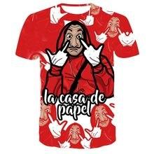 TV Series La Casa De Papel 3d Printed T-Shirt Men/Women Short Sleeve Summer Fashion Casual O-Neck T-Shirt Harajuku Clothes