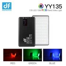 Yy135 luz de led rgb, bateria embutida para vídeo de liga de 2500 8500k para vlogging dslr youtube luz de estúdio