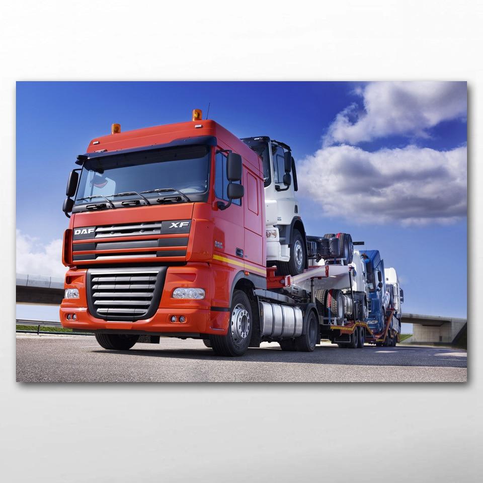 CANVAS Semi Truck Art print POSTER