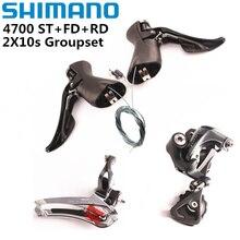 Shimano Tiagra 4700 2x10 Tốc Độ Xe Đạp Xe Đạp Mini Groupset Bộ 4700 Trước Derailleur + GS SS Phía Sau derailleur + ST Sang Số
