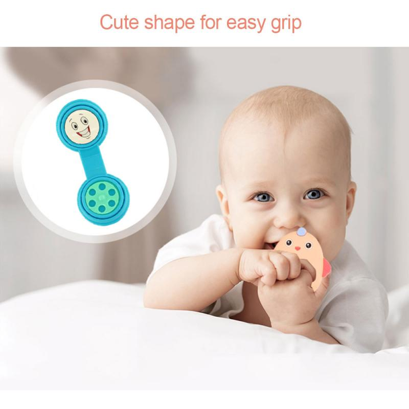 4PCS Cartoon Pacifier Nipple Cradle Case Portable Baby Dust Cover Pacifier Storage Box Tooth Gel Box For Newborn Baby
