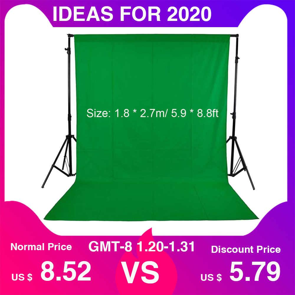 1,8*2,7 m/5,9 * 8.8ft pantalla verde para estudio de fotografía Video no tejido blanco negro verde fondo de fotografía