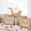 Персонализированные Свадебные г-жа «тоут» из мешковины сумка Свадебные вечерние Ретро пляжная сумка, платье подружки невесты из джута на з...