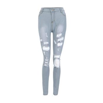 Litthing dżinsy średnio wysoka talia dżinsy skinny na co dzień dla kobiet w stylu Vintage Slim smukłe do połowie talii dżinsy długie spodnie dżinsowe dżinsy spodnie Slim tanie i dobre opinie COTTON Pełnej długości Jeans Przycisk fly Otwór Powlekane Ołówek spodnie light ropa mujer women jeans ripped jeans for women