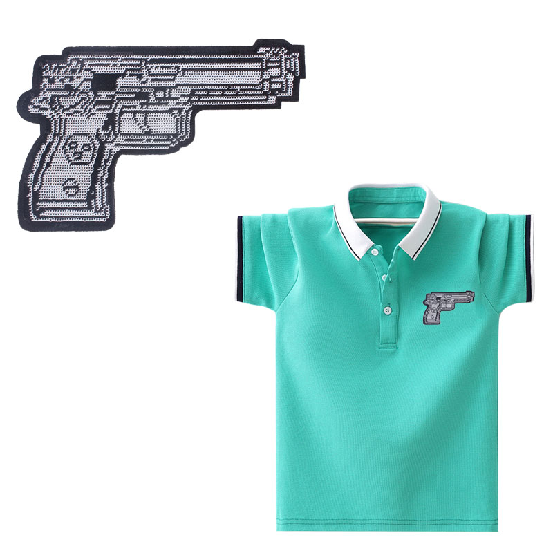Parches de sirena para pistola de frutas, parche para ropa A rayas, nivel A, lavable, con apliques, pegatina para ropa DIY