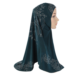 Image 3 - Hiyab de diamante de imitación musulmán mujeres una pieza Amira pañuelo islámico chal envoltura Khimar árabe oración gorra Hijab pecho cubierta Ramadán