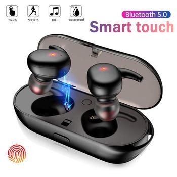 Y30 TWS słuchawki bezprzewodowe 5 0 słuchawki z redukcją szumów zestaw słuchawkowy dźwięk radia muzyki w słuchawki douszne douszne dla Android IOS inteligentny telefon tanie i dobre opinie CHUYONG NONE Dynamiczny CN (pochodzenie) wireless 123dB bluetooth Do gier wideo Zwykłe słuchawki do telefonu komórkowego