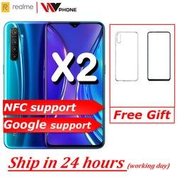 Китайская версия realme X2 мобильный телефон Snapdragon 730G 64MP камера 6,4 ''полный экран NFC OPPO мобильный телефон VOOC 30W быстрое зарядное устройство