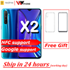 Versione cinese realme X2 Moblie Del Telefono Snapdragon 730G 64MP Fotocamera 6.4 ''Schermo Intero NFC OPPO Cellulare VOOC 30W Fast Charger