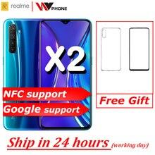 גרסה הסינית realme X2 Moblie טלפון Snapdragon 730G 64MP מצלמה 6.4 מלא מסך NFC OPPO נייד VOOC 30W מהיר מטען