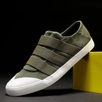 Monstceler Men's Canvas Shoes Spring Ribbon Stripe Designer Sneaker Men Breathable Loafers Spring/Autumn Vulcanize Slip On Flats