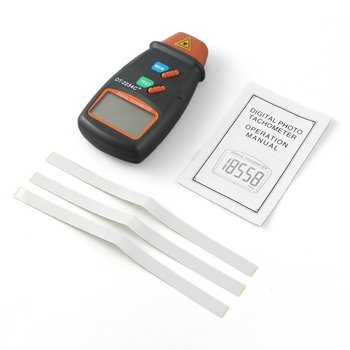 цена на 1set High Quality Digital Laser Tachometer RPM Meter Non-Contact Motor Lathe Speed Gauge Revolution Spin