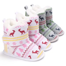Baby Shoes Toddler Shoes Girl Boy Winter Baby Boots Warm Children Kids Snow Booties Newborn First Walker New Infant Crib Shoes