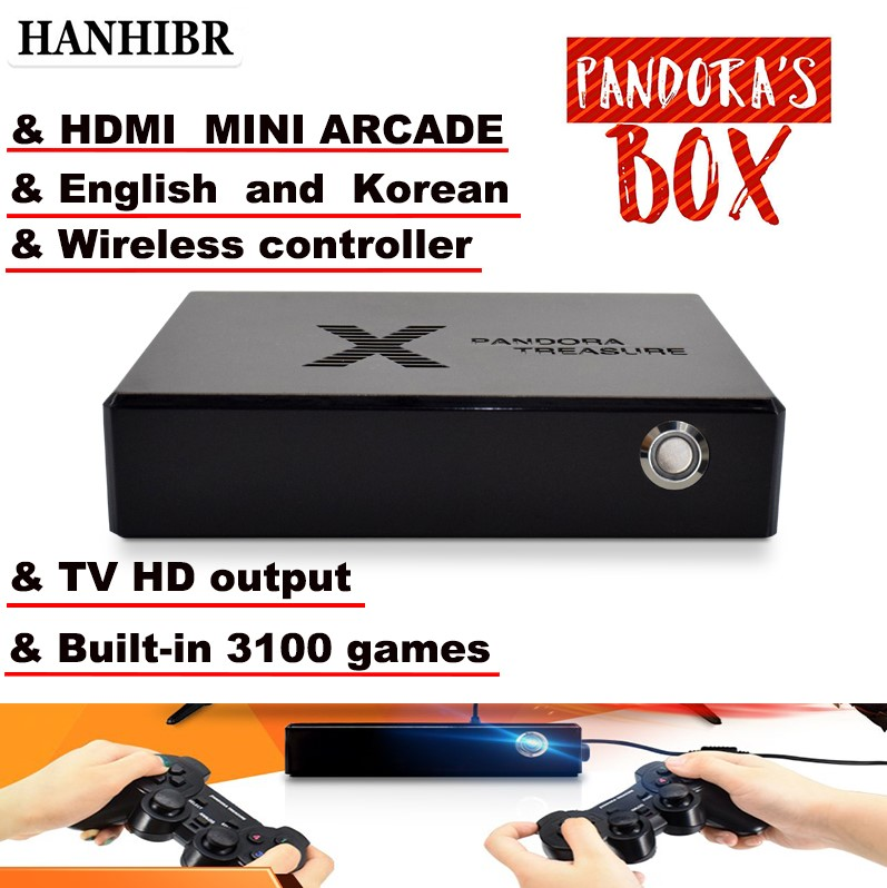 Pandora box 3D mini arcade console 3100 in 1 game video game moonlight treasure box 2D retro game PS1 3D game box 1500 in 1 game image