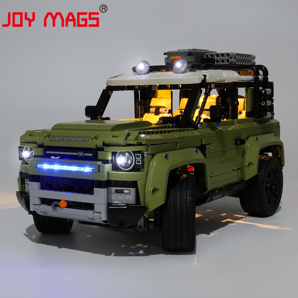 JOY MAGS Only Led Light Kit For 42110 Technic Landrover Defender Vehicles Toys Lighting Set Compatible With 11450 13175 93018