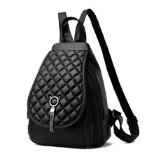 Autumn 2021 new soft leather women's casual backpack fashion embroidered backpack 100-pack women's bag travel shoulder backpack
