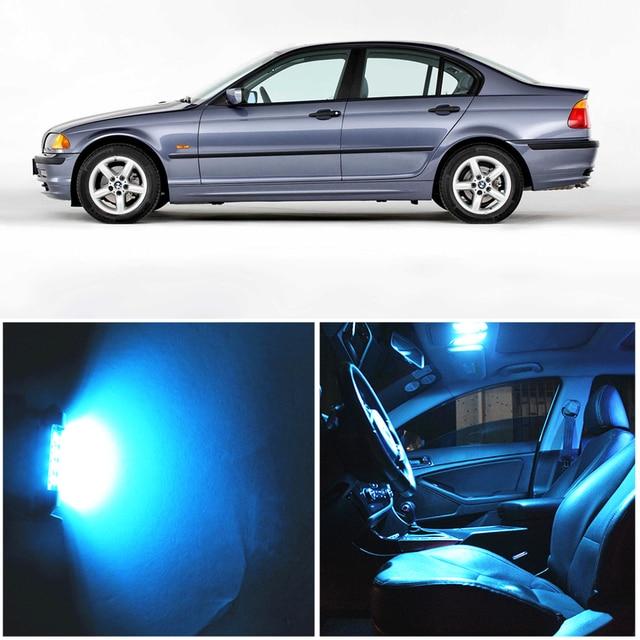 WLJH 17x ホワイトエラーフリー車マップミラー電球照明パッケージインテリア Led Bmw E46 1999 2006 セダンワゴンクーペ Canbus