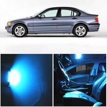 WLJH 17x biały bezawaryjna samochodowa mapie żarówka lustrzana pakiet oświetlenia wnętrza Led zestawy dla BMW E46 1999 2006 Sedan Wagon coupe Canbus