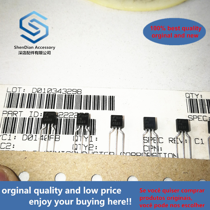 50pcs 100% Orginal New PN2222RA PN2222 TO-92 Real Photo