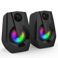 Multimedia Bass Stereo Audio LED Colorful Double Speaker Colorful Led Light Audio Mini Sound Blaster Audio TV Computer Speaker