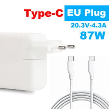 Type C Charger 87W USB C Power Adapter for Latest Macbook pro 15inch A1706 A1707  A1708 A1719 EU plug