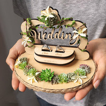 Frete grátis pro 1 pçs personalizado beijo noivado casamento proposta decoração do dia do casamento foto prop anel manual travesseiro